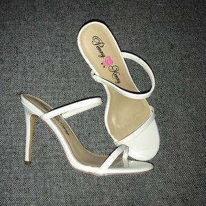 Strappy White Heel